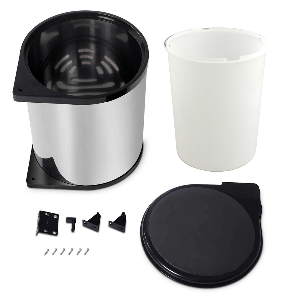 Kitchen Swing Pull Out Bin Stainless Steel Garbage Rubbish