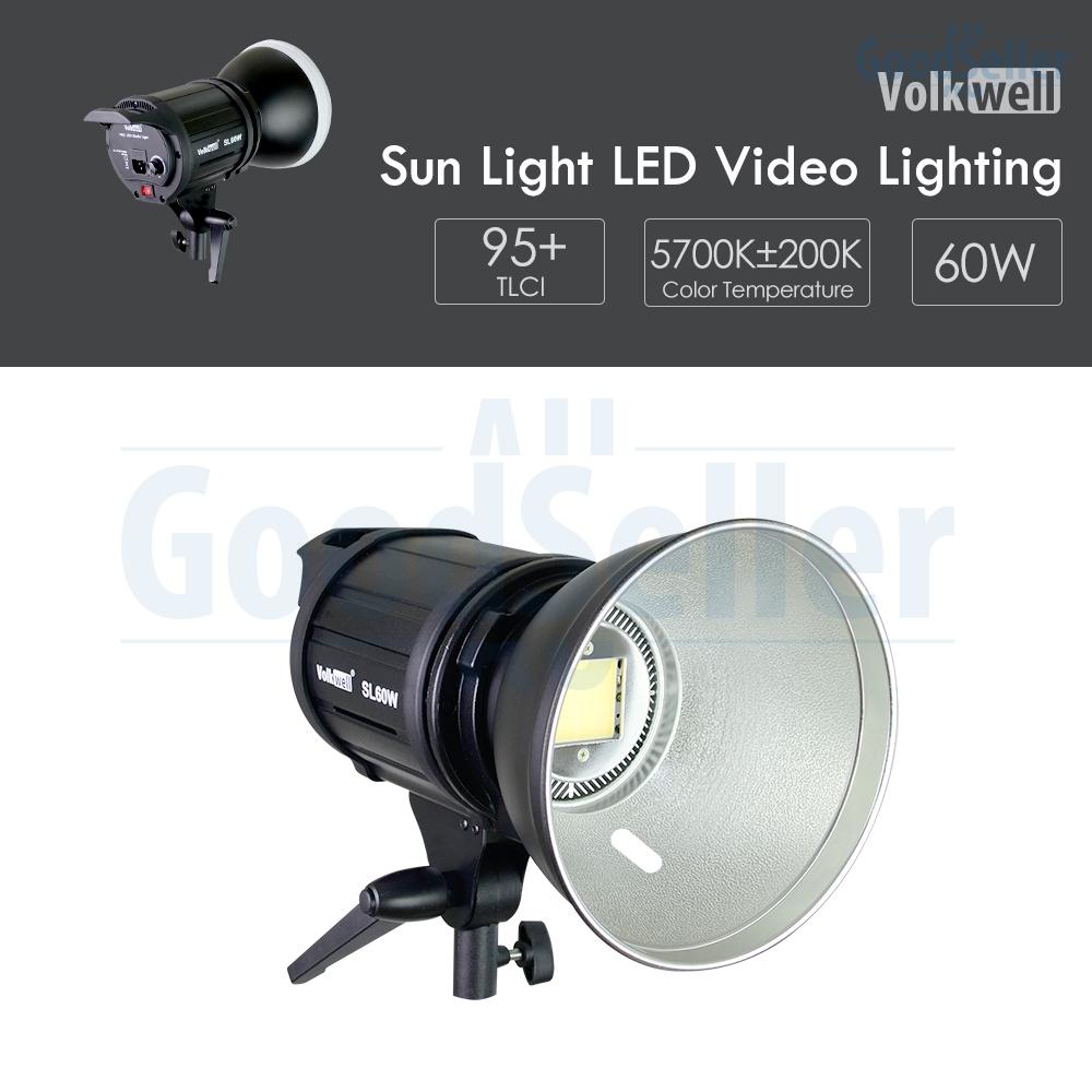 Details about 60W Bowen Mount Reflector LED Video Light w/ Soft Diffuser  Studio Lighting Kit