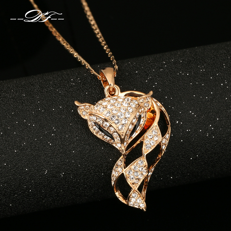 Royaume-Uni disponibilité 08137 dc929 Details about Cute Charm Fox Chain Necklaces & Pendants Desingns Fashion  Brand Jewelry