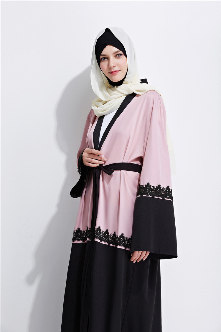 Dubai Abaya Women Patchwork Kaftan Jilbab Islamic Maxi Cardigan ...