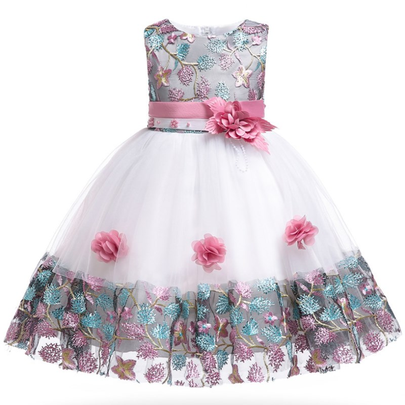 Kids Bridesmaid Flower Girls Dress For Wedding and Party Dresses Birthday Prom