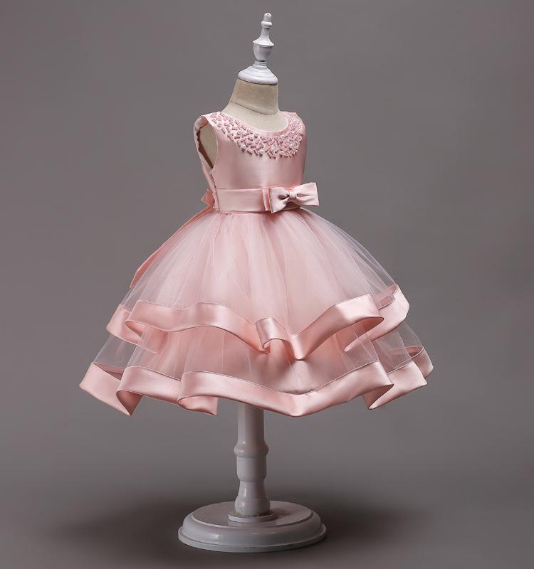 Girls Dress High-end Kids Lace Dresses Flower Beading Children ...