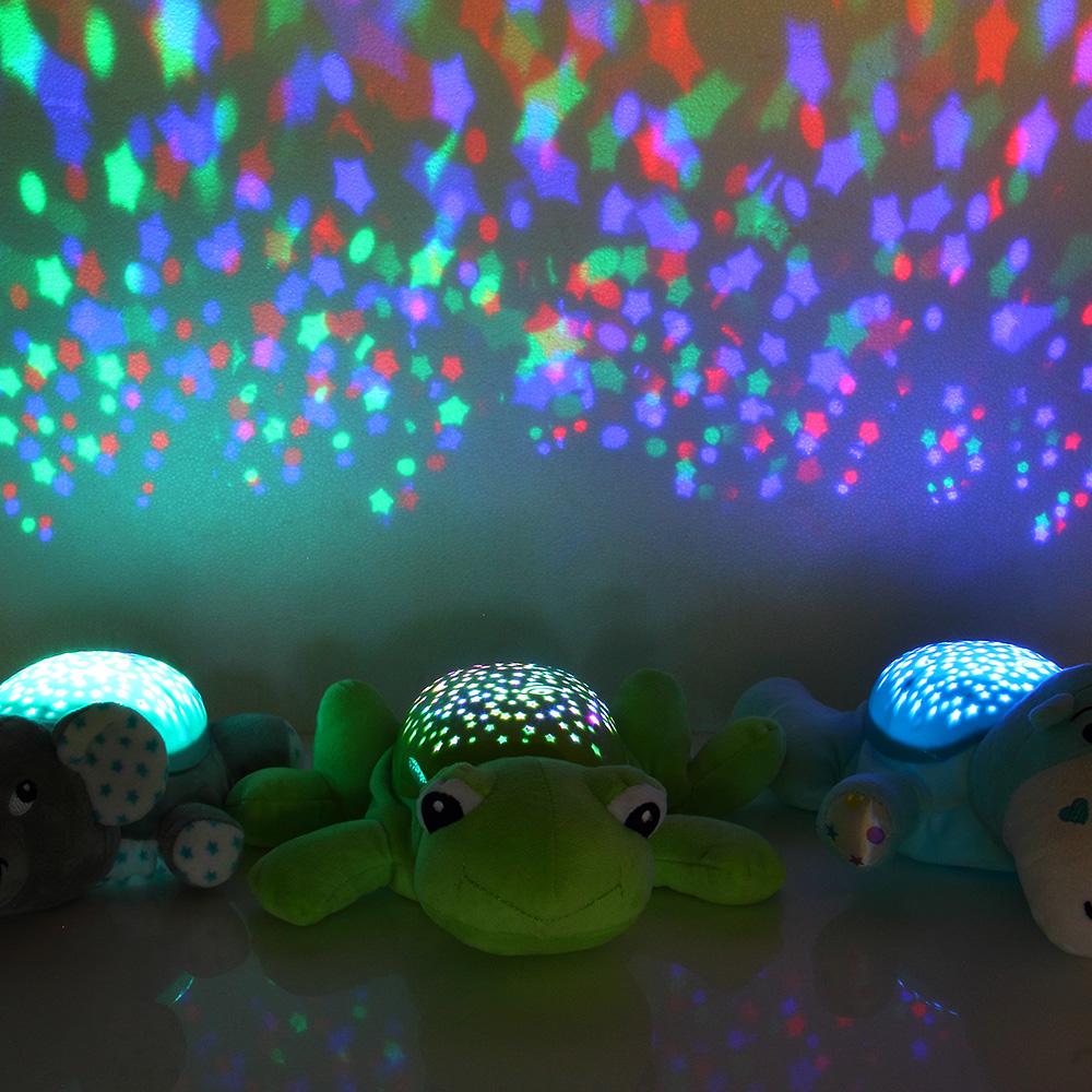 LED KInder Baby Nachtlicht Schlaflampe Projektorlampe Musik Notlicht Beleuchtung