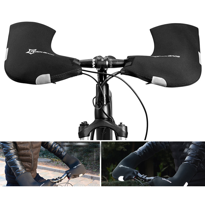 RockBros Winter Gloves Road Cycling Handlebar Mittens Hand Warmers Covers Black