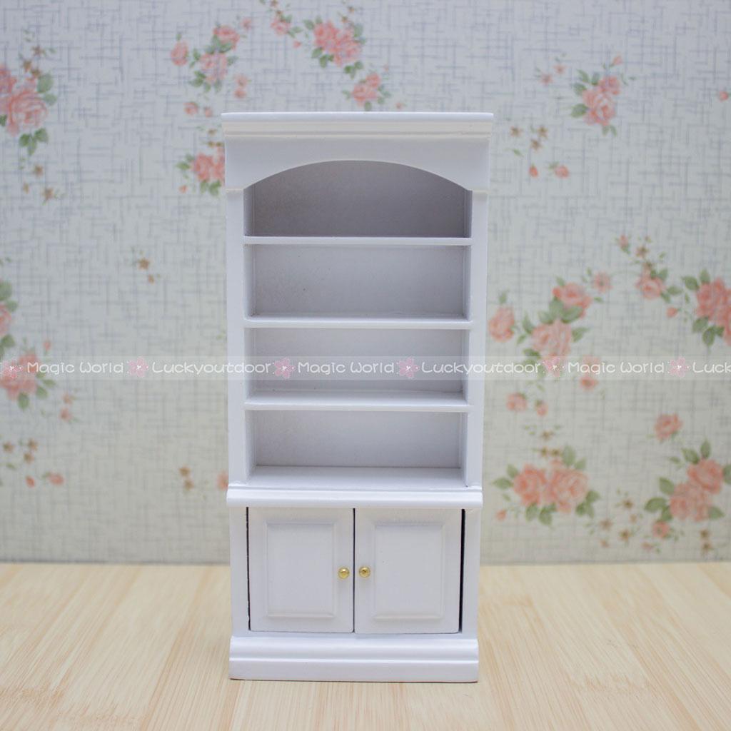 Diret 1//12 Dollhouse Miniature Furniture Multifunction Wood Cabinet Bookcase