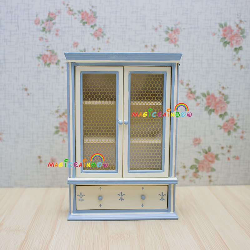 Dollhouse Miniature Cabinet Princess Wardrobe Cupboard Bedroom Furniture Toys