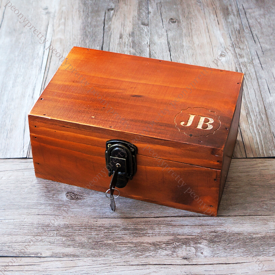 Details About Personalised Engraving Retro Wooden Jewelry Box Custom Bridesmaid Groomsmen Gift