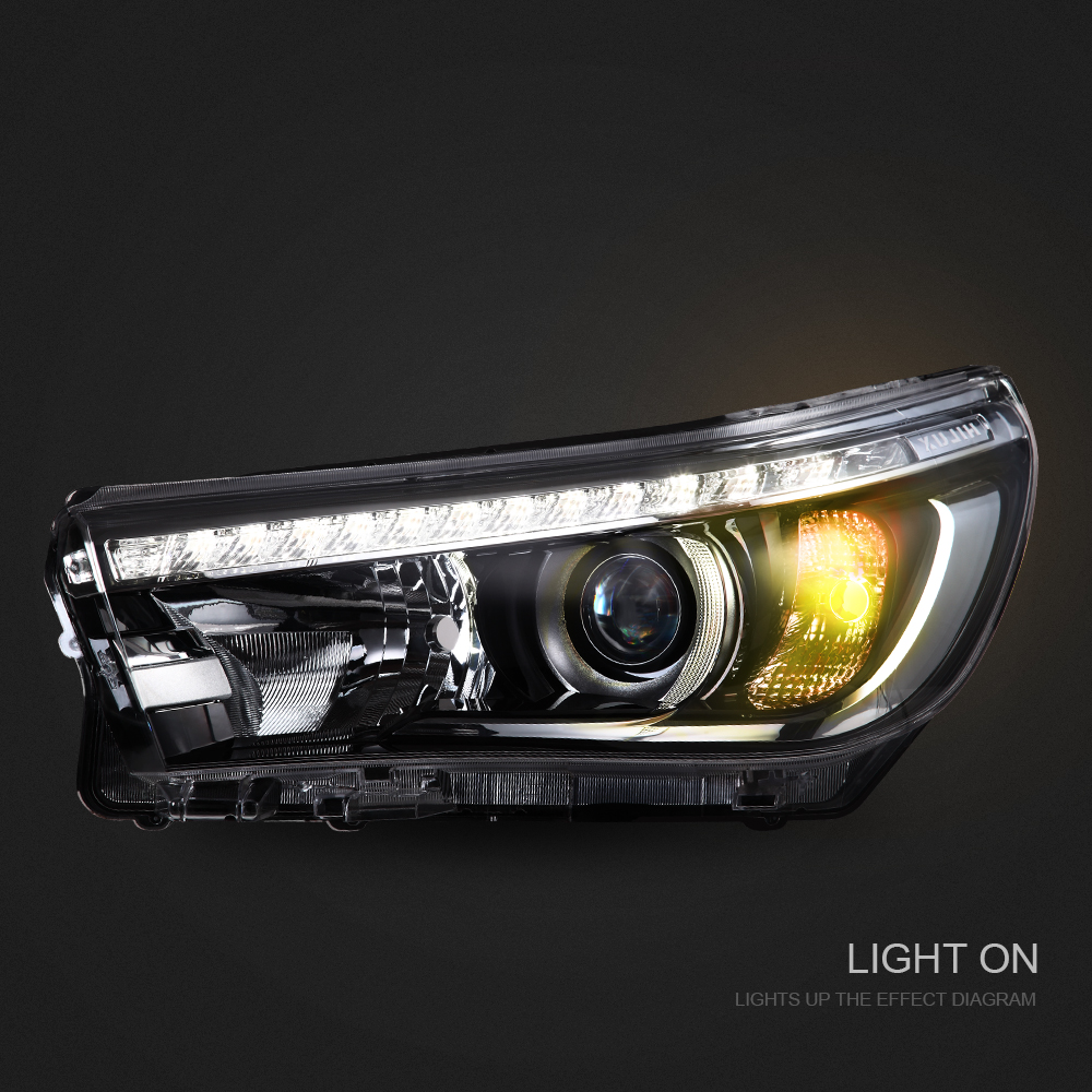 Led Headlights For Toyota Hilux Vigo Revo 2016 2017 Front Head Wiring Diagram Lamps R L