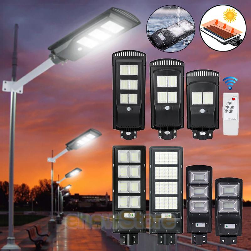 1000000LM Solar LED Street Light Outdoor Dusk-to-Dawn Area Road Flood Light IP67