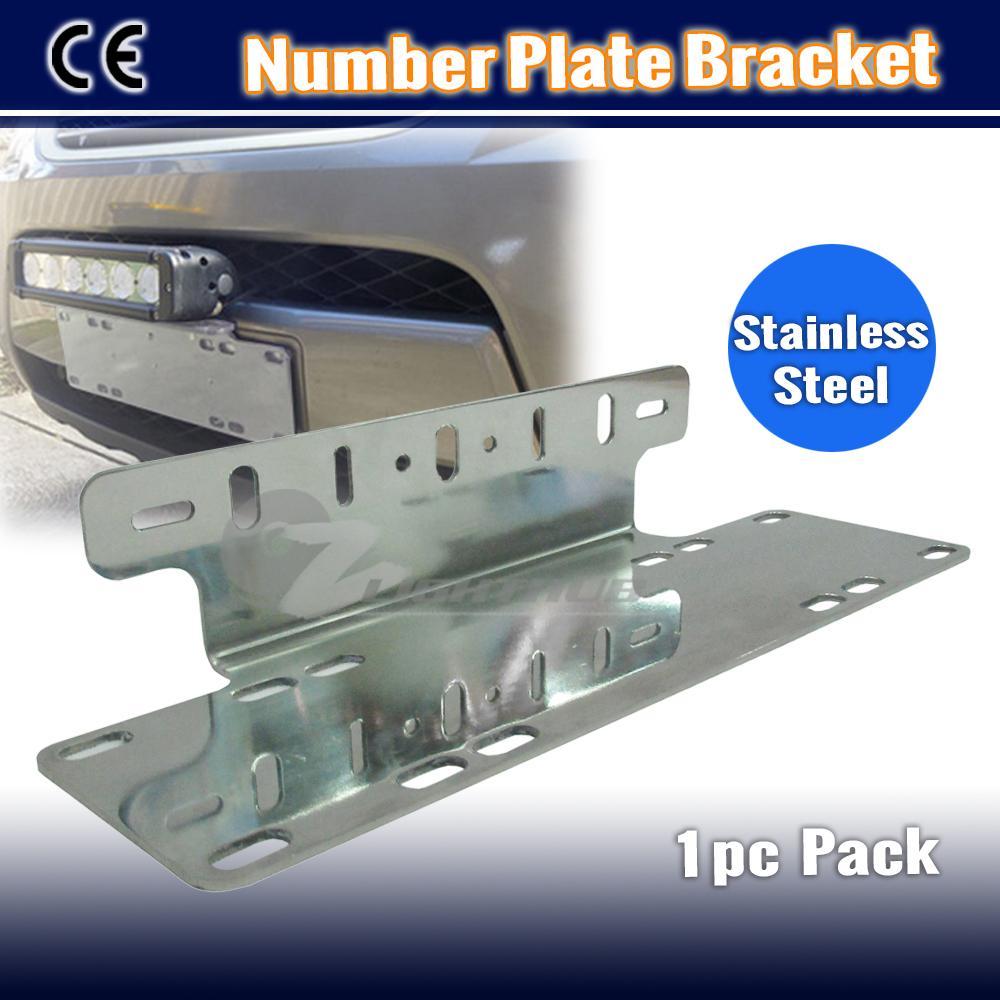 Bumper Bar License Number Plate LED Work Light Bar Mounting Bracket ...