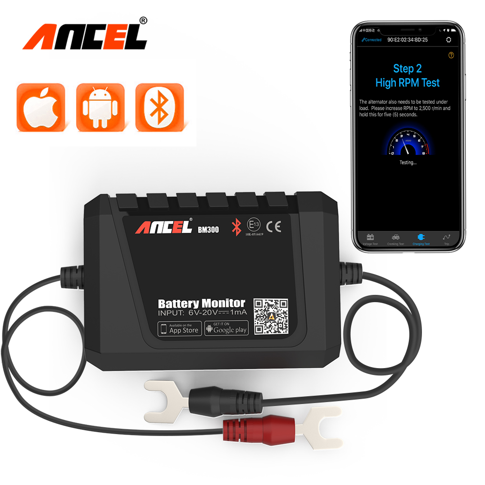 12V Bluetooth Car Battery Monitor Test For Android IOS Digital Analyzer Battery