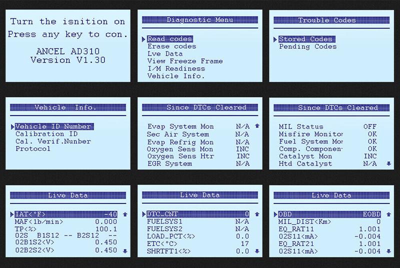Details about OBD2 Scanner OBDII Car Engine check Fault EOBD2 Code reader  Auto Diagnostic Tool