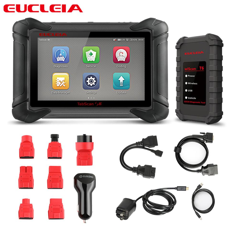EUCLEIA S8 J2534 ECU programming Car All system Diagnostic Tool