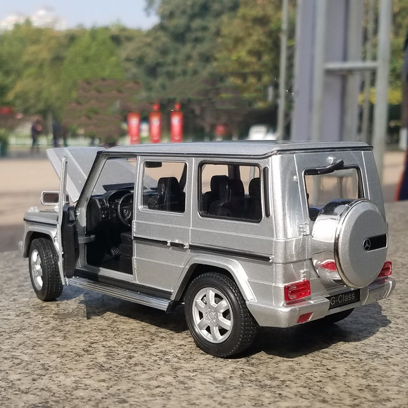 Mercedes Benz G Class G500 Model Cars 1 24 Toys Collection Silver