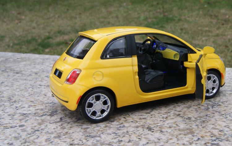 Fiat 500 Alloy Diecast Model Cars 1 28 Open Two Doors