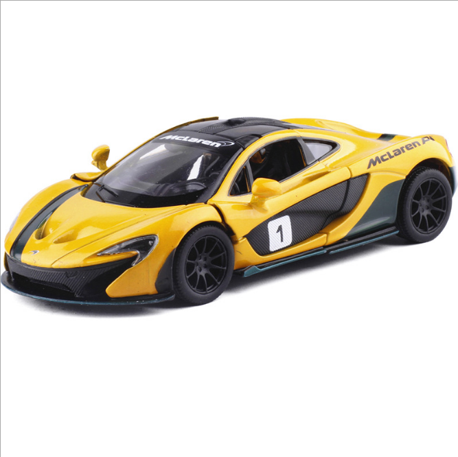 Model Cars 1:36 McLaren P1 5 Inch Alloy Diecast Toys Collectionu0026Gifts  Yellow New