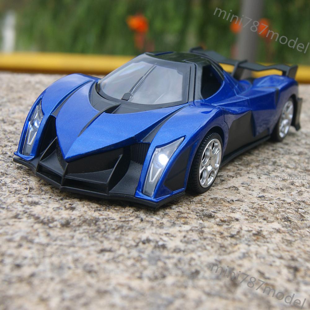 Devel Sixteen Super Cars Model 1:32 Toy Sound&Light Blue