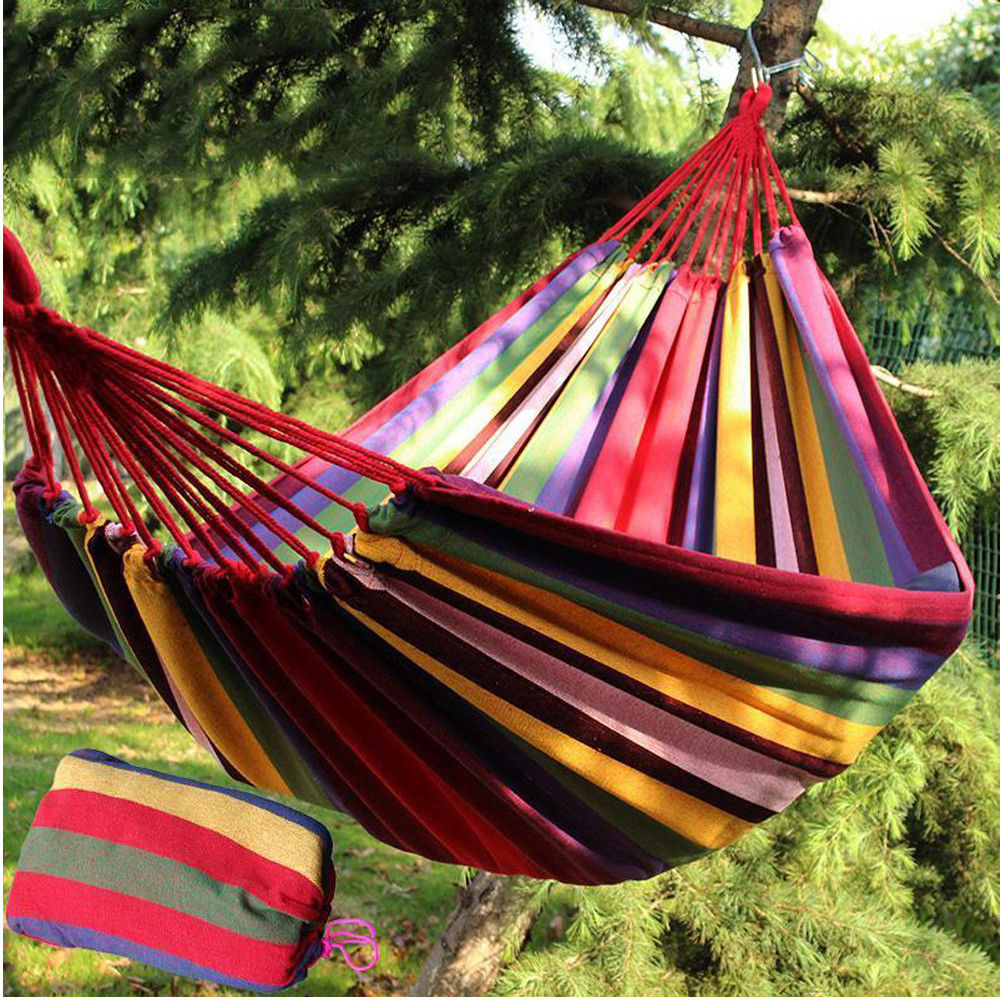 Two Person Hammock Camping Traveling Outdoor Garden Swing