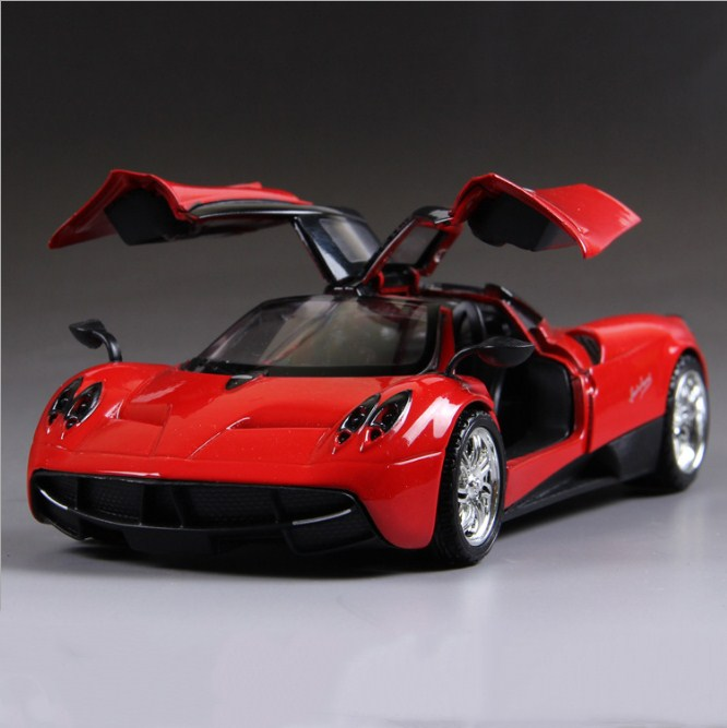 Pagani Huayra Model Cars 1:24 Toys Open Two Doors Collection Alloy Diecast  Red