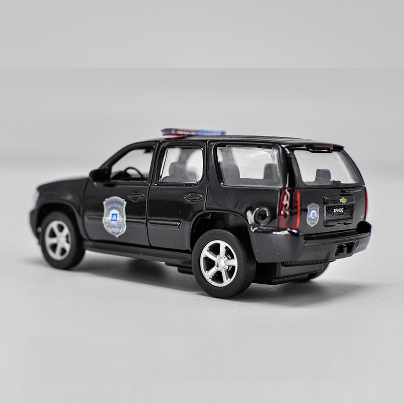 """Chevrolet Tahoe Police 5"""" Model Cars SUV 1:36 Toy Alloy"""