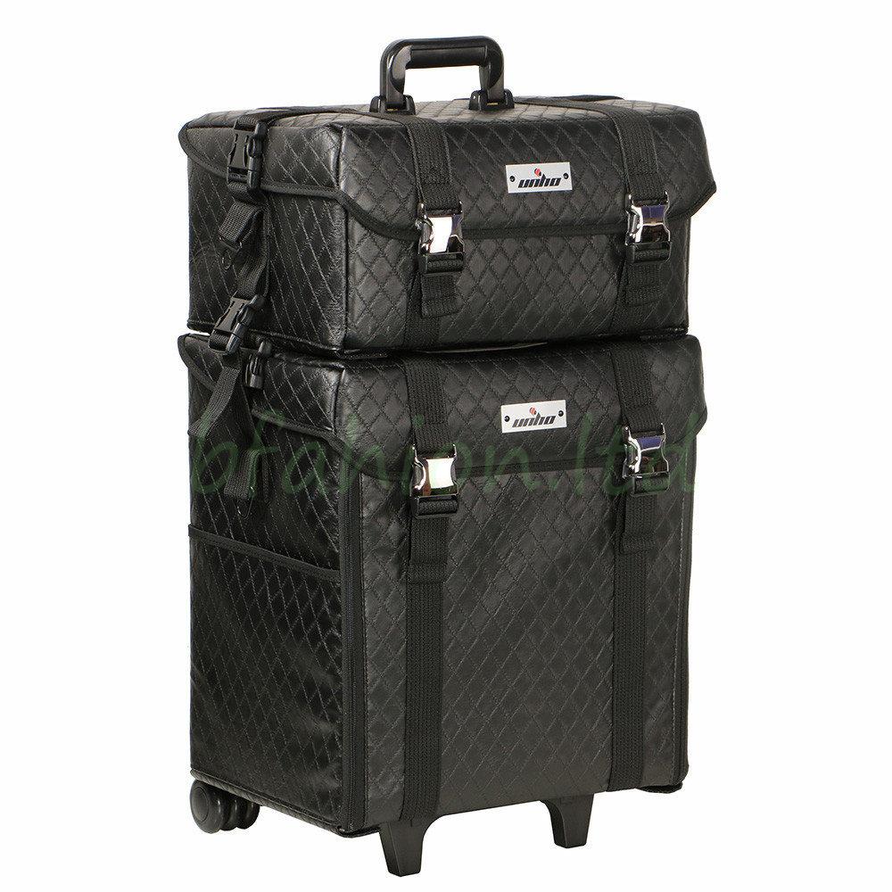 Luggage With Drawers Unho 2 In1 Pro Makeup Artist Trolley Case Soft Cosmetic Storage