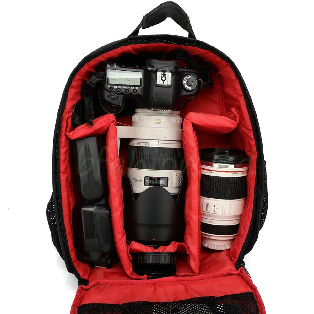 Waterproof Camera Backpack Bag Lens Case Rucksack For DSLR SLR Canon EOS Nikon 7