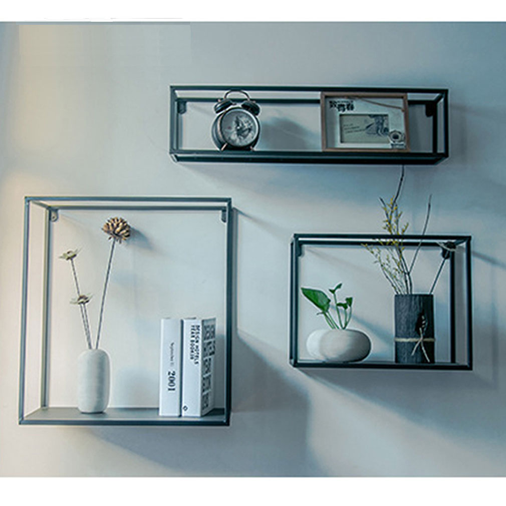 3 in 1 Vintage Metal Wire Shelves Wall Mounted Shelf Rack Storage ...