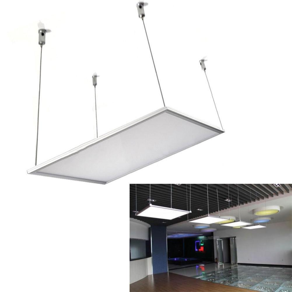 Led Hanging Light Fixtures: LED Panel Pendant Light 600x600 Ceiling Mounting