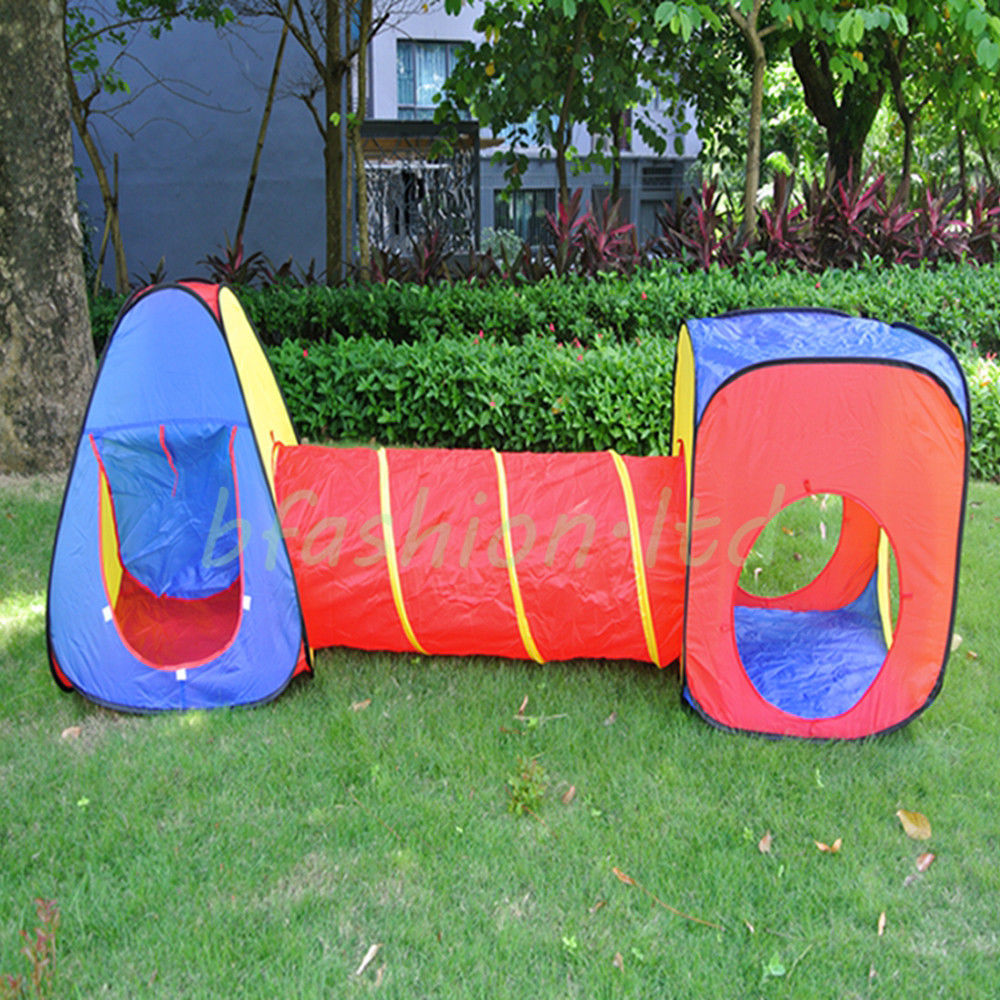 Childrens Kids Baby Play Tent and Tunnel Adventure Playhouse Pop Up Wendy House & Childrens Kids Baby Play Tent and Tunnel Adventure Playhouse Pop ...