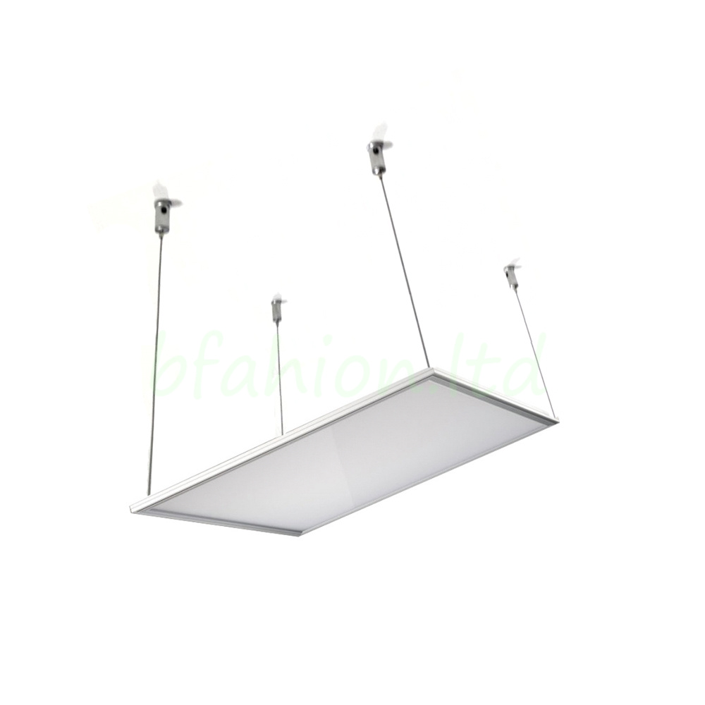 Led panel pendant light 600x600 ceiling mounting for Hang photos from wire