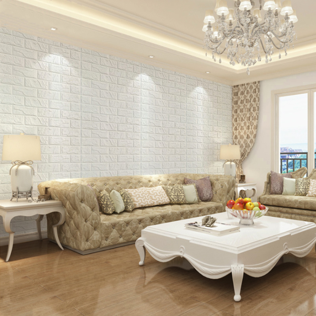3d Self Adhesive Wall Sticker Decal Brick Stone Wallpaper Home