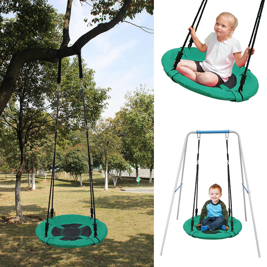 Garden Swing Seat Height Adjustable Rope Kids Climbing