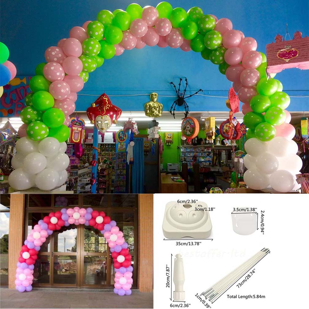 LARGE WEDDING CHRISTMAS PARTY EVENT BALLOON ARCH FRAME DIY KIT& ...