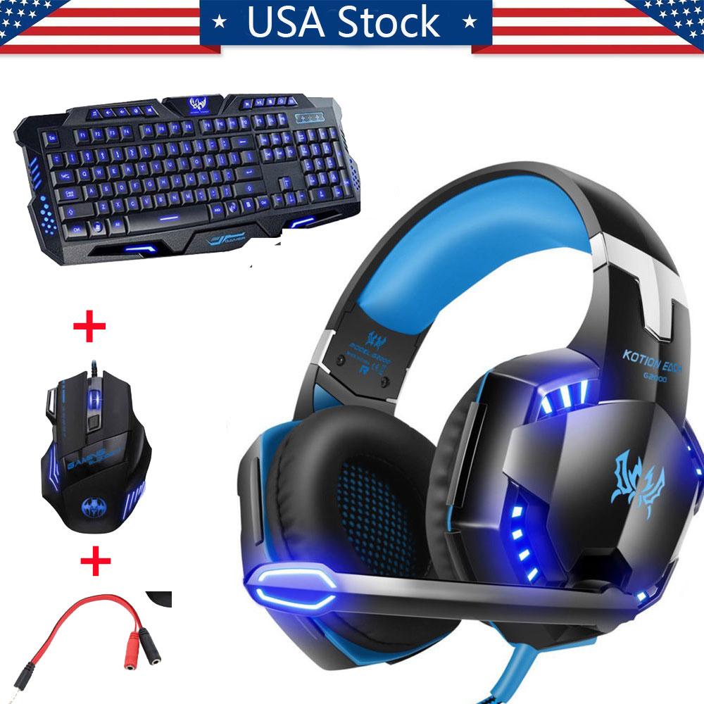 Gaming Headphones And Keyboard