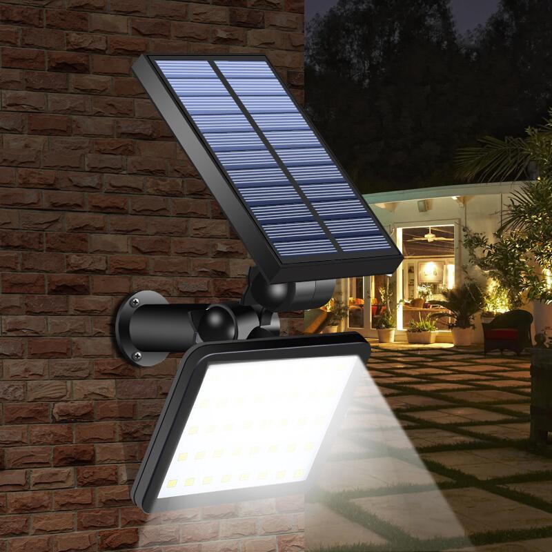 Solar 48 Led Motion Sensor Light Outdoor Garden Path Street Wall Lamp Waterproof