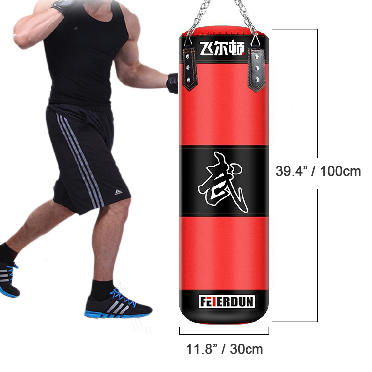 Workout Gloves Target: Punching Bag W/2 Boxing Gloves Bandages Training Sandbags