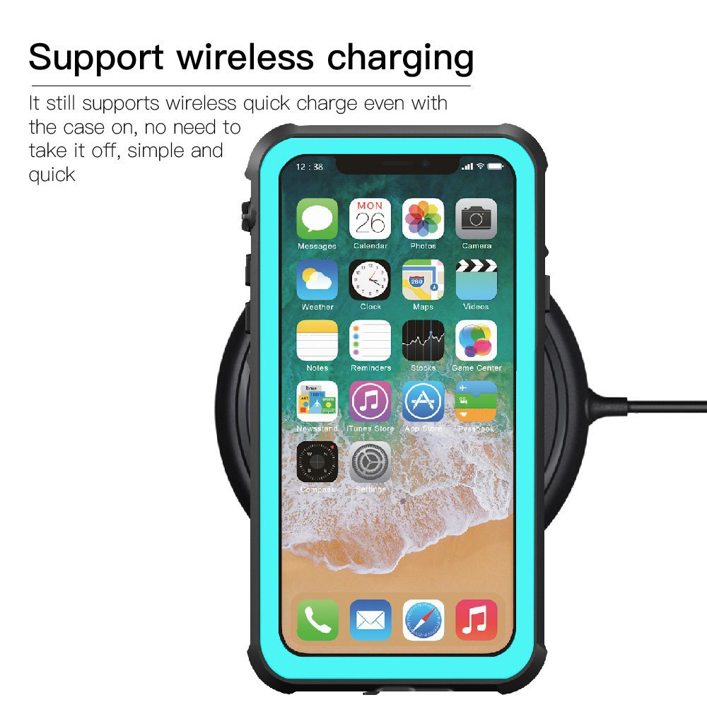 finest selection ac361 04eb8 Details about For iPhone X/10 Waterproof Shockproof Dirt Proof Full-Body  Protective Case