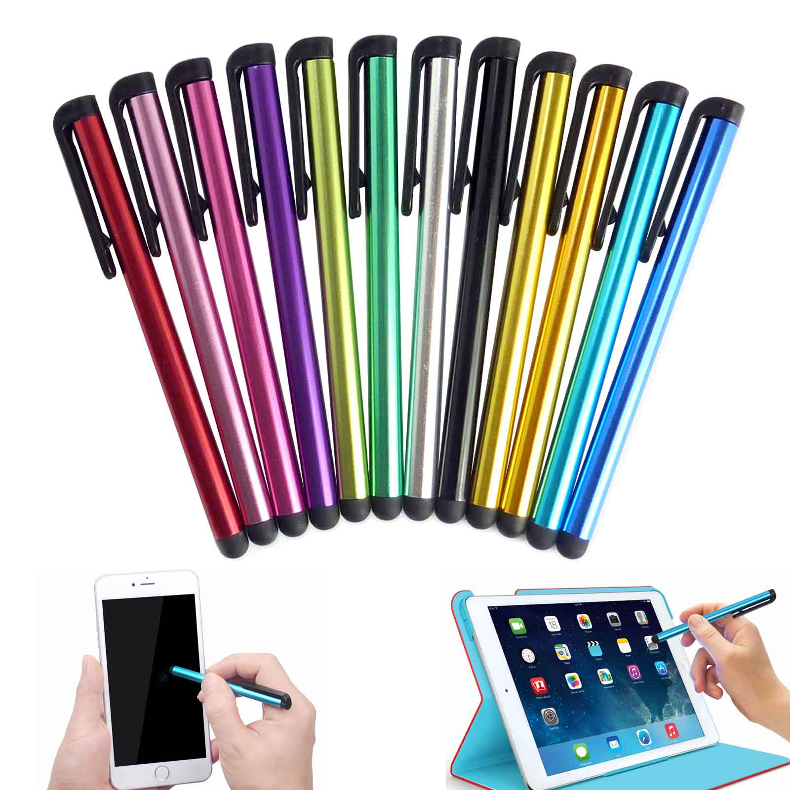 100x Lot Capacitive Touch Screen Pen Stylus For Samsung Tablet PC iPad iPhone