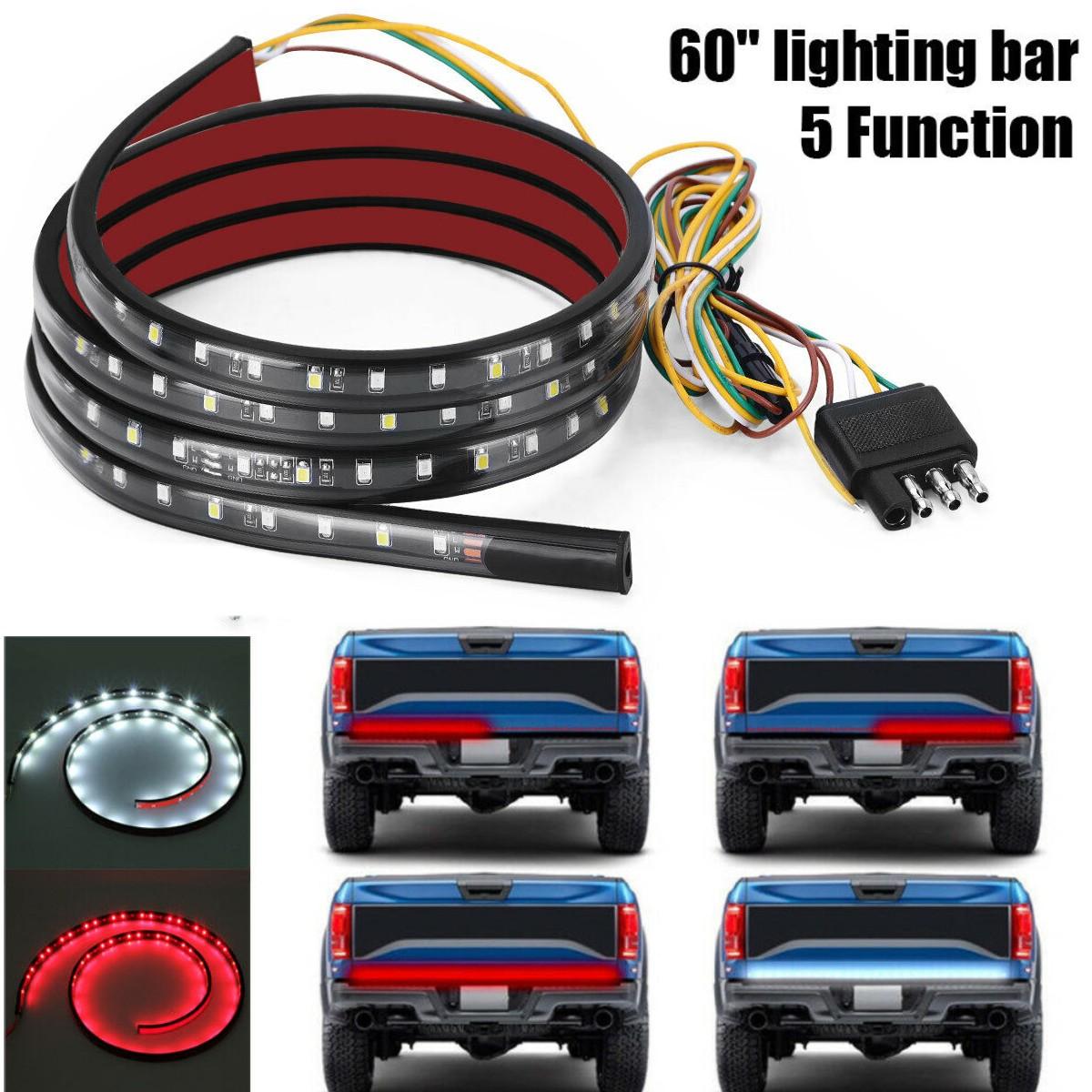 Details About 60 5ft Led Tailgate Strip Brake Reverse Signal Light Bar For Pickup Truck