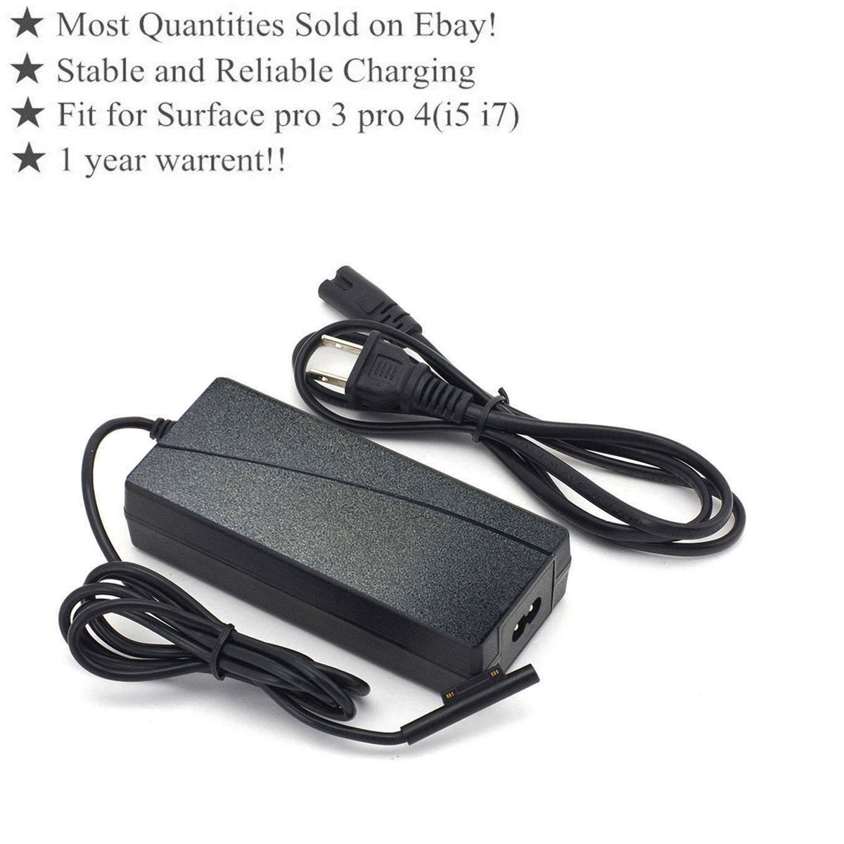 Details about NEW AC Wall Power Charger Adapter For Microsoft Surface Pro  4/Pro3