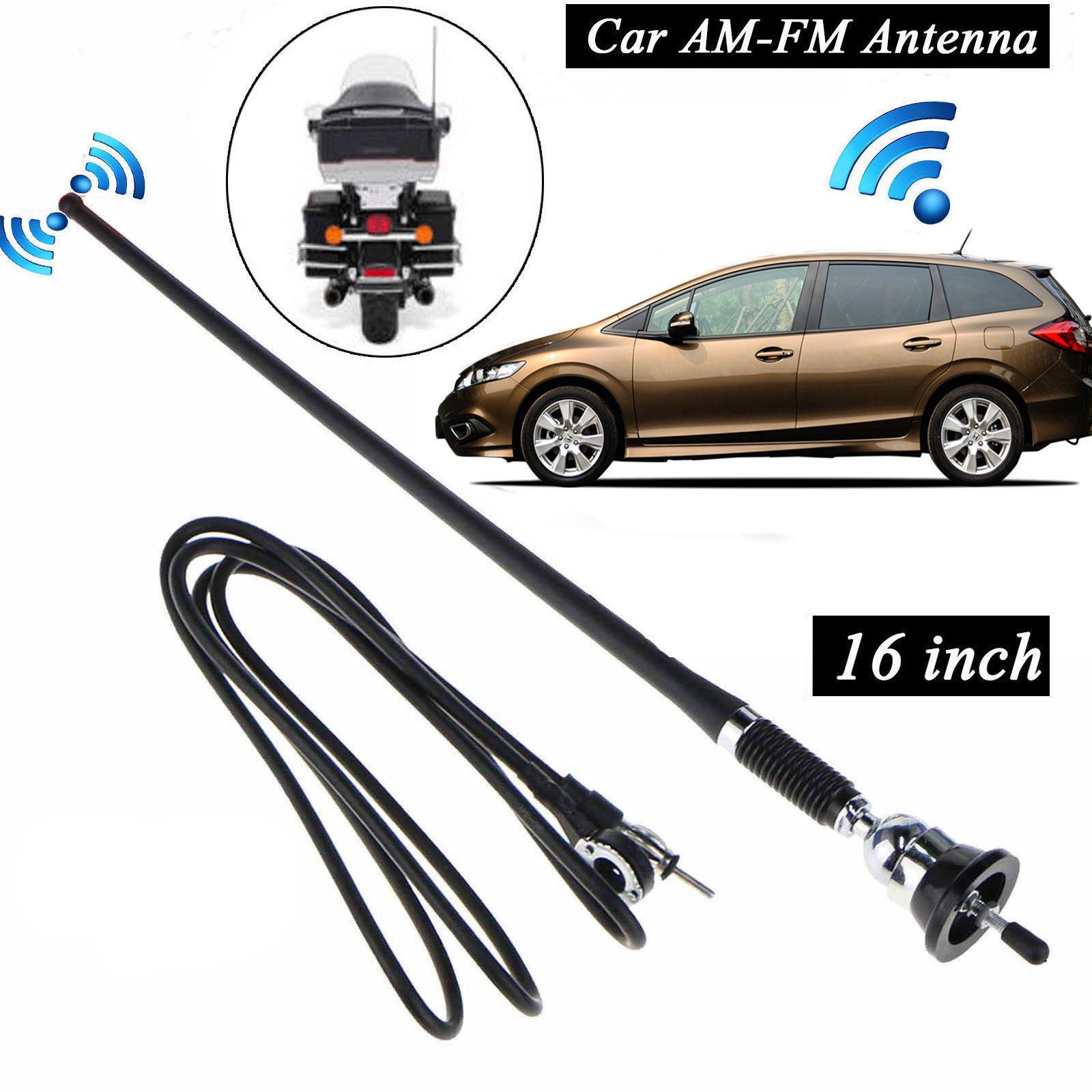"16/"" Universal Mount Swivel Base Car Radio AM//FM Amplified Signal Aerial Antenna"