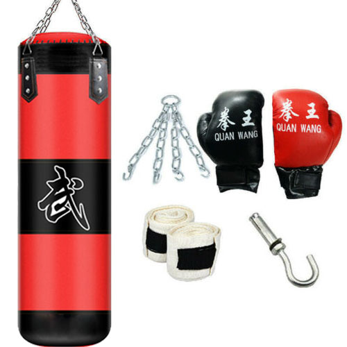 Empty Boxing Sandbag MMA Sport Training Fitness Punch Kick Fighting Bag Tool New