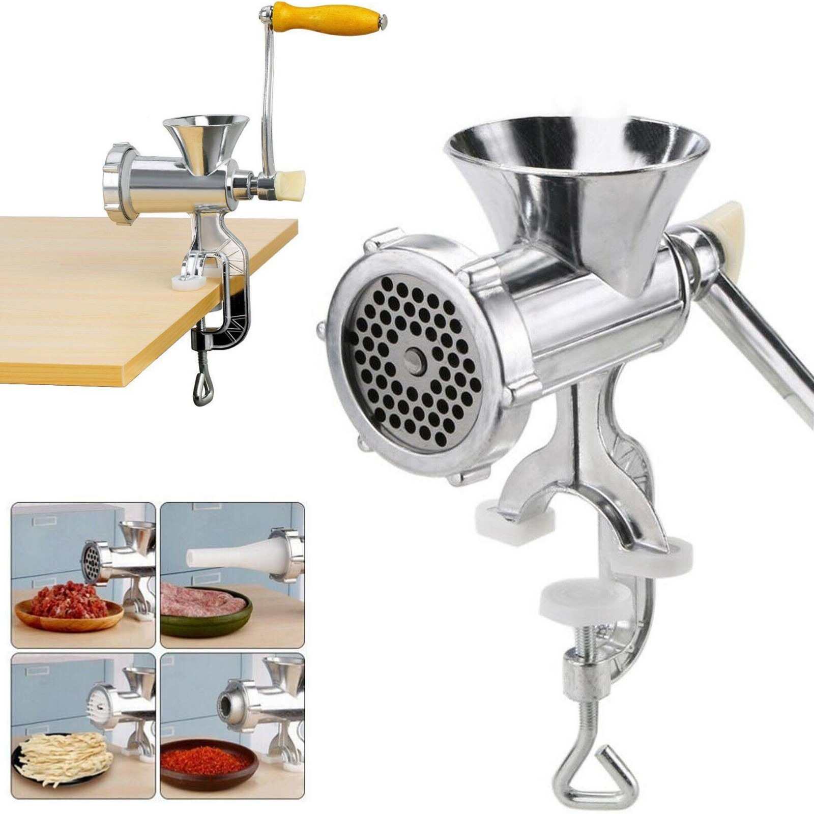 Meat Tenderizer US Manual Multi Meat Grinder Mincer Sausage Filler Pasta Maker