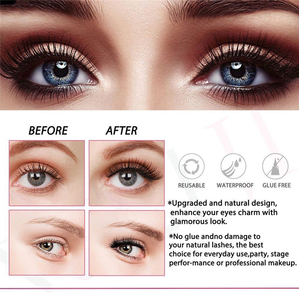 8pcs Magnetic 3d False Eyelashes Long Natural Full Eye Lashes