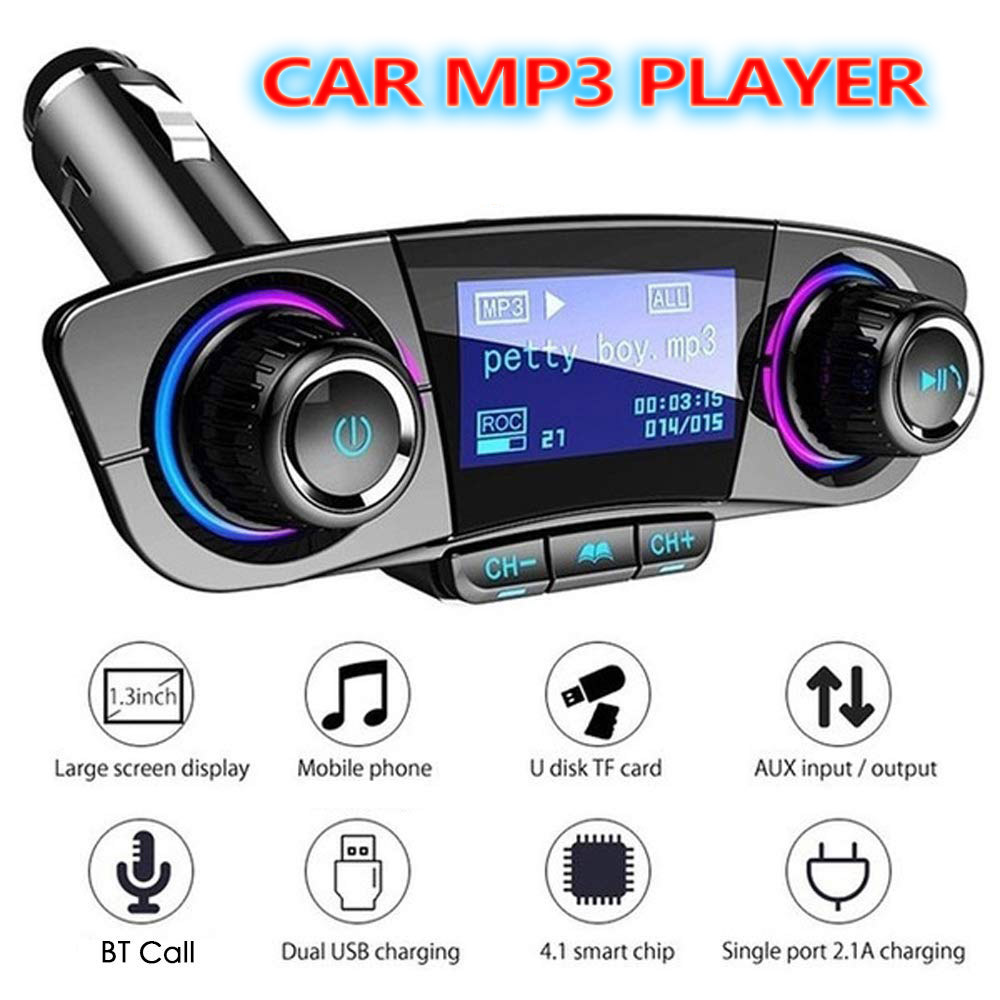 Details about Car FM Transmitter MP3 Player Hands free Radio Adapter Kit  USB Charger