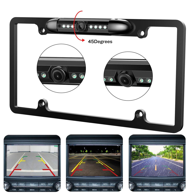 12V Car Rear View Backup Camera 8 IR Night Vision US License Plate Frame CMOS