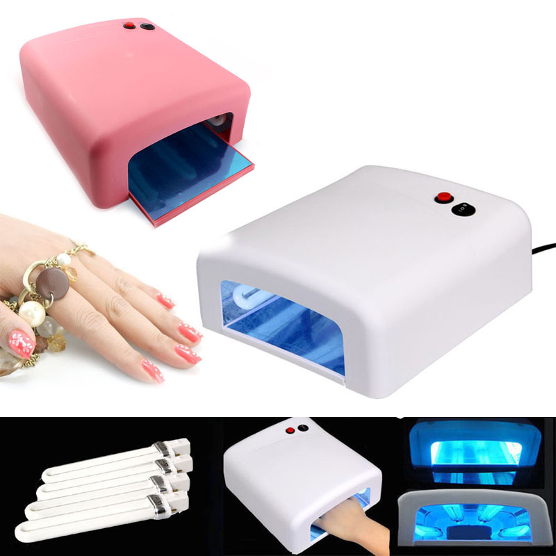 Details about Pro Nail Polish Dryer Lamp 36W LED UV Gel Acrylic Curing Light Spa Kit + 4 Tubes