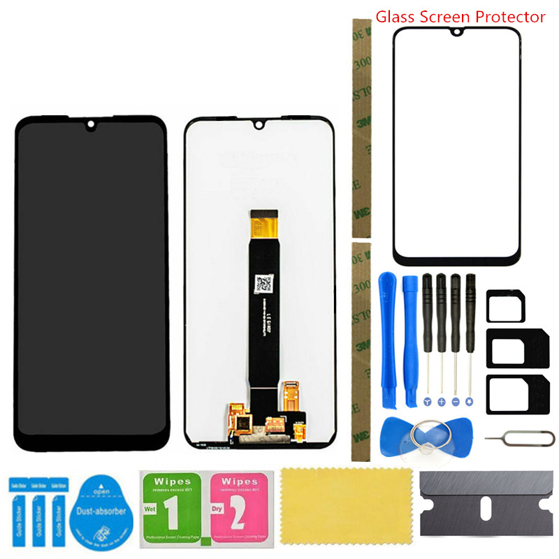 DUANDETAO LCD Screen and Digitizer Full Assembly for Motorola Moto E6 Plus Touch Screen Replacement Parts Color : Color1