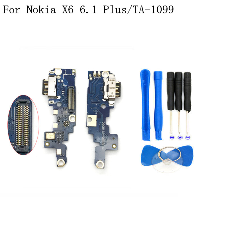 USB Charging Port Connector for Nokia X6 6.1 Plus TA-1099 TA-1103