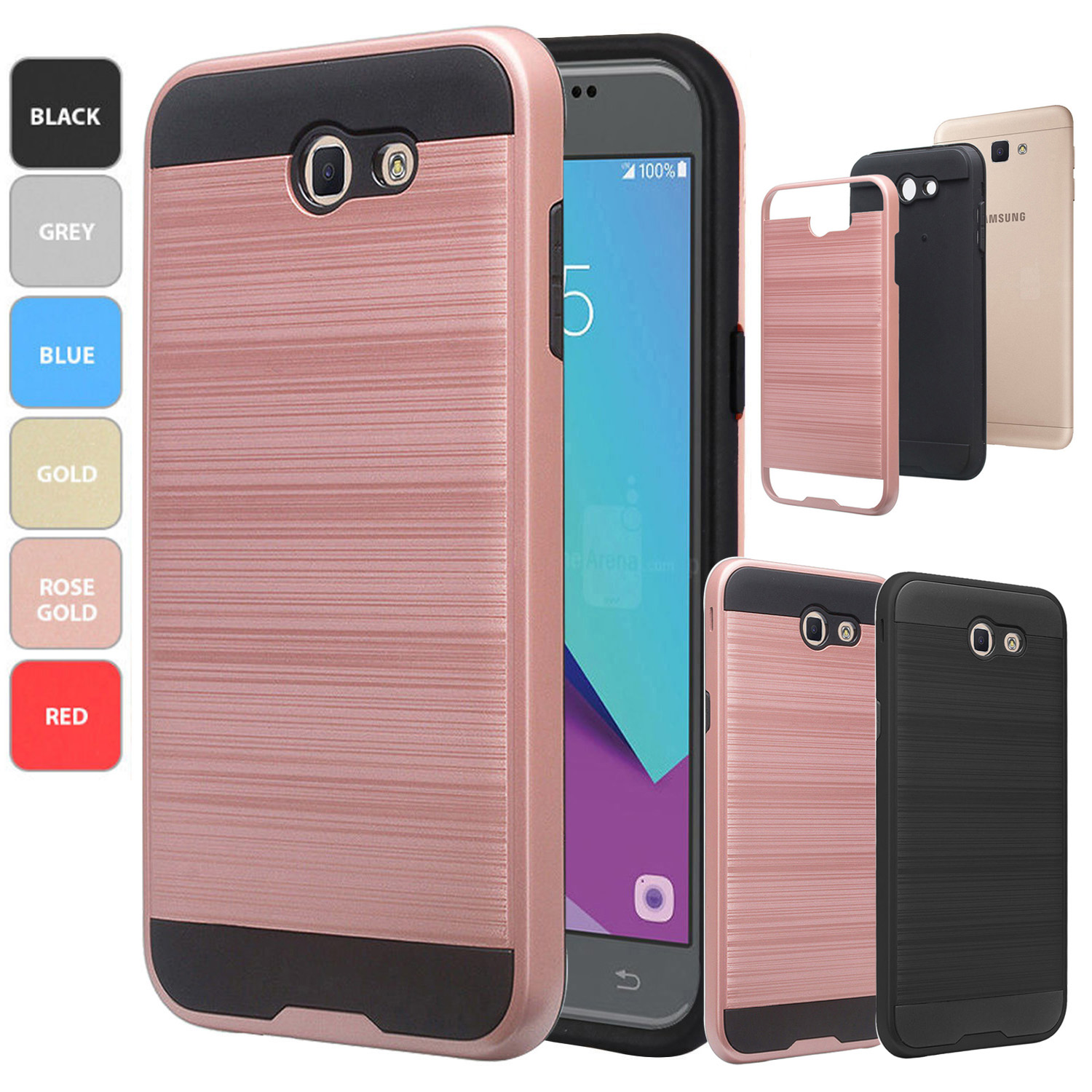 finest selection 369da 50ac4 Details about For Samsung Galaxy J7 Prime / J7 Sky Pro Phone Case  Shockproof Rubber Hard Cover